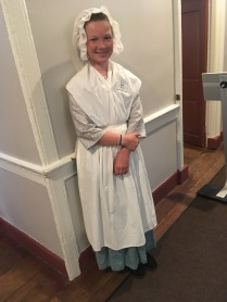 One of the fifth-grader historian guides at the Gatsby's Tavern
