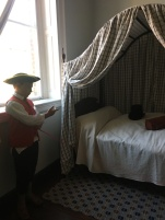 Gadsby's Tavern, Alexandria, Virginia. A bedroom used by Thomas Jefferson