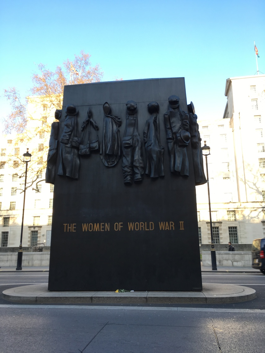 Monument for the Woman of World War II at Whitehall, Downing Street