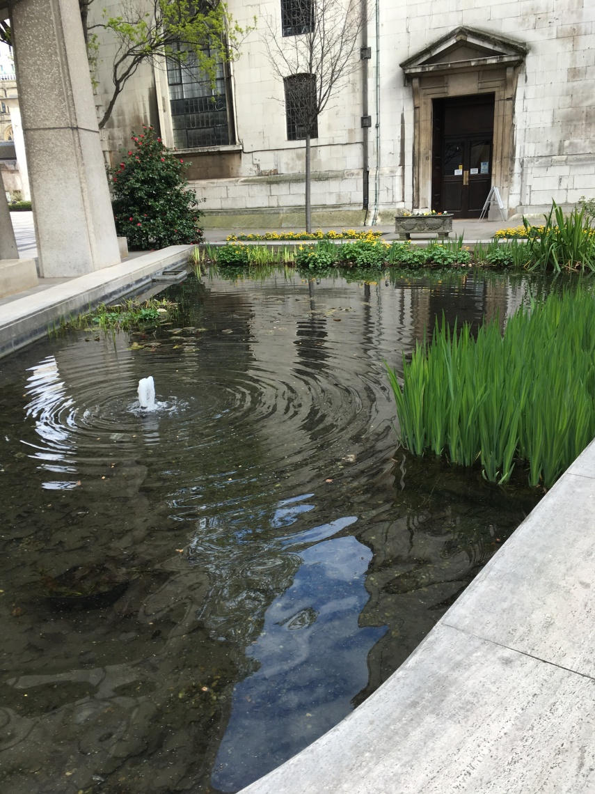 A pond close to Guildhall, City of London