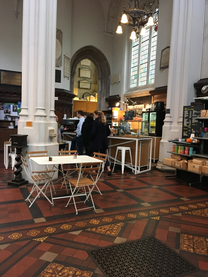 The Cafe at St Stephen Walbrook by Cristopher Wren