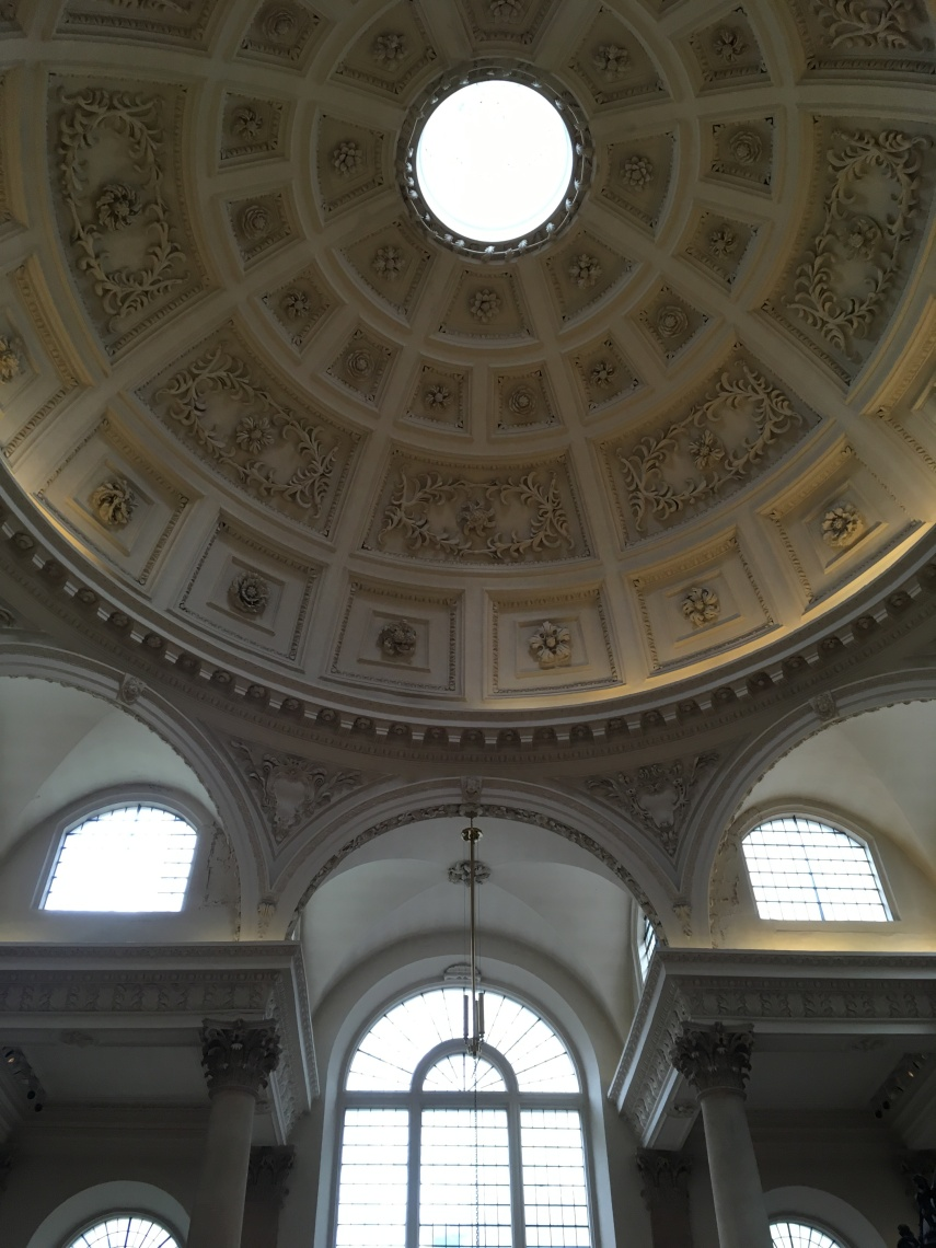 The dome of St Stephen Walbrook created by Cristopher Wren