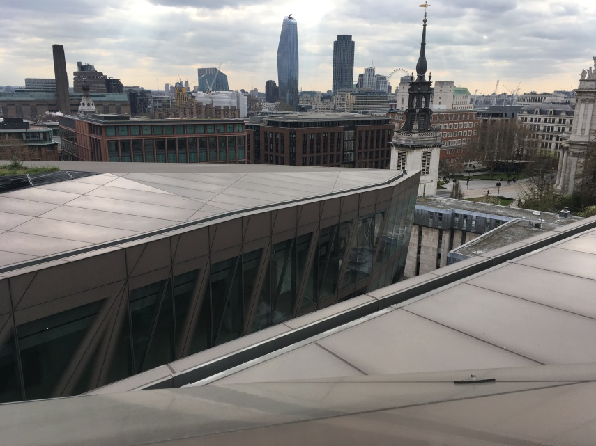 "City of London seen from the roof a new shopping mall ""One New Change"" by Nouvel"