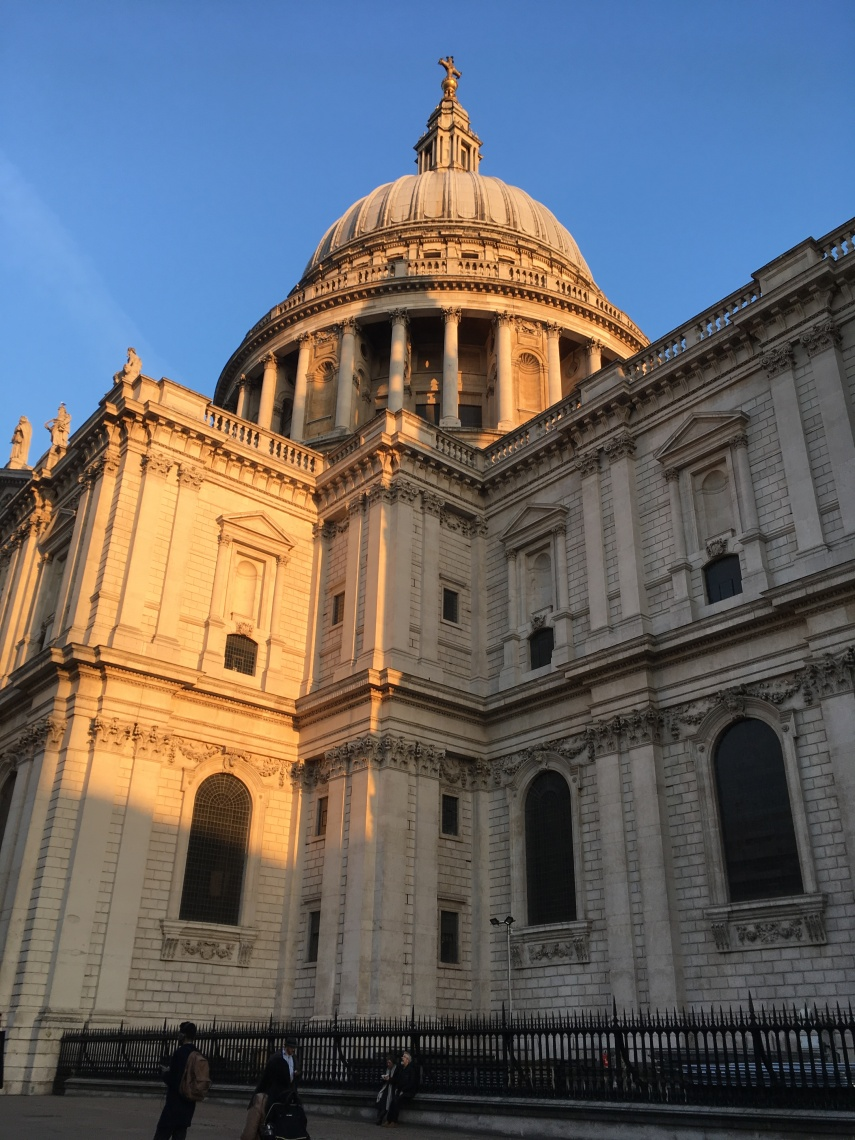 An angle of St. Paul's Cathedral in London