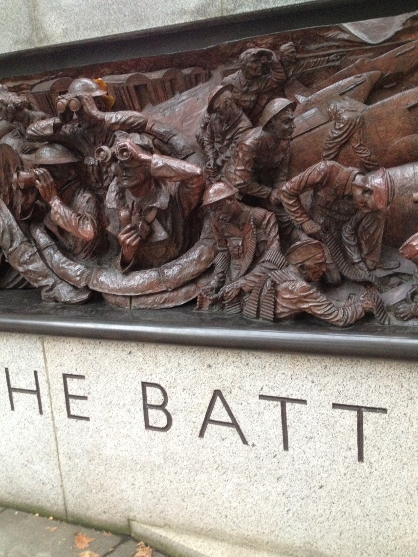 A scene at the monument of the Battle of Britain in 1940