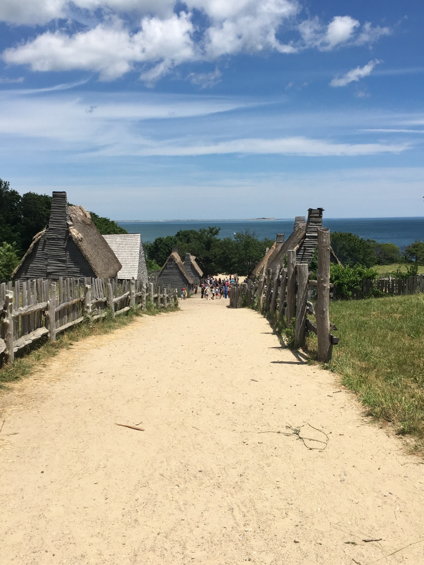 The first sight of the Plimoth Plantation Village