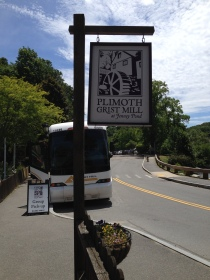 Sign for the Plimoth Grist Mill