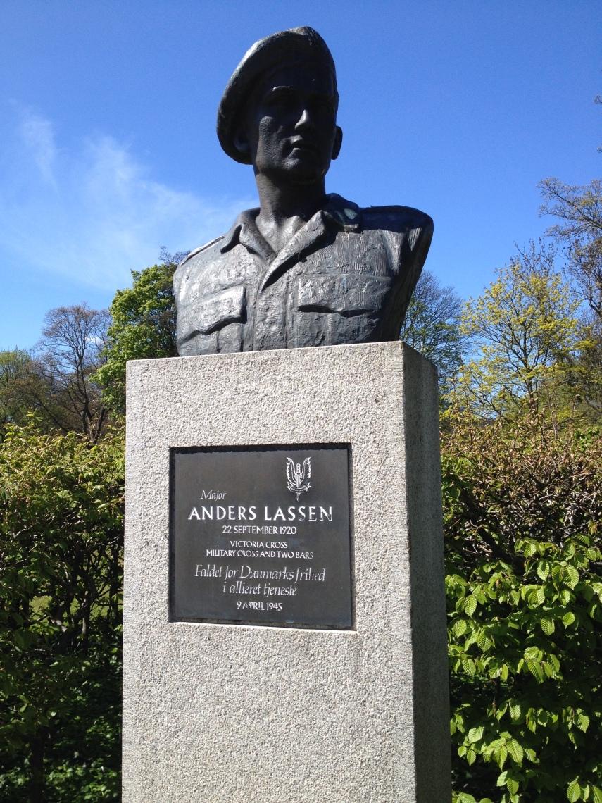 Bust of Major Anders Lassen at the Churchill Park, Copenhagen