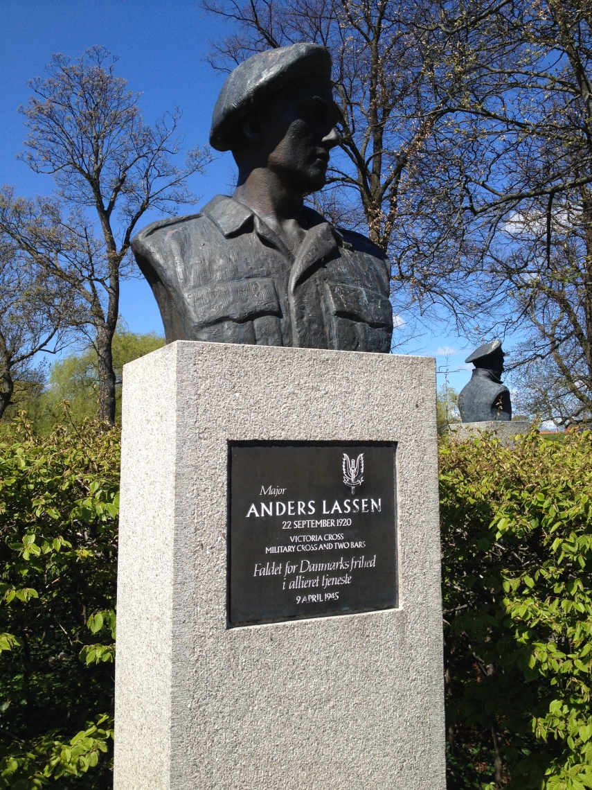 Major Anders Lassen at the Churchill Park, Copenhagen