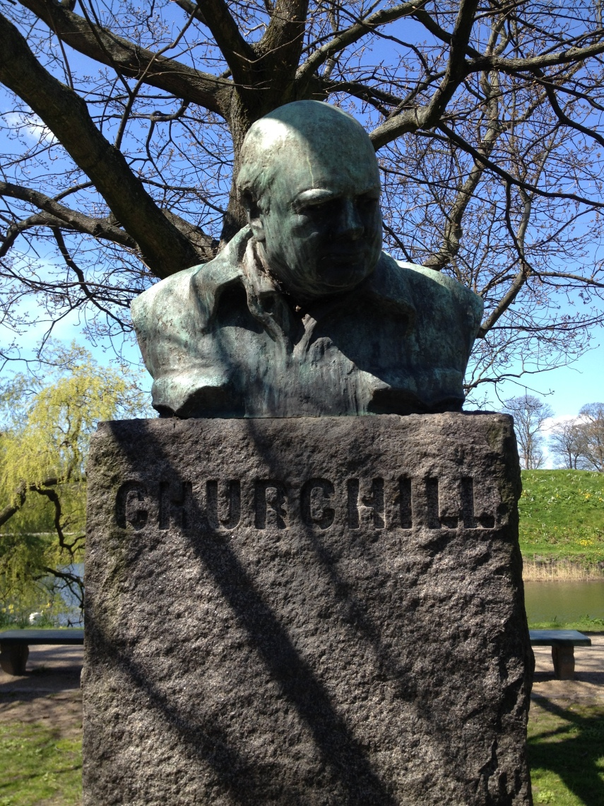 Bust of Winston Churchill at the Churchill Park, Copenhagen
