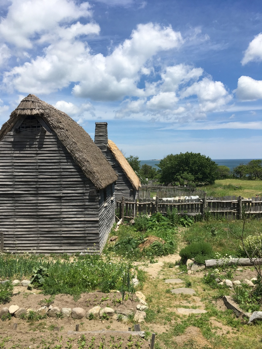 Houses at the Plimoth Plantation Museum. 17th-Century English Village.
