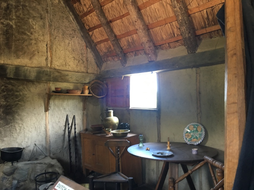 A room at the Plimoth Plantation Museum. 17th-Century English Village.