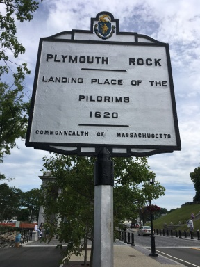 Plymouth Rock landing place of the pilgrims 1620