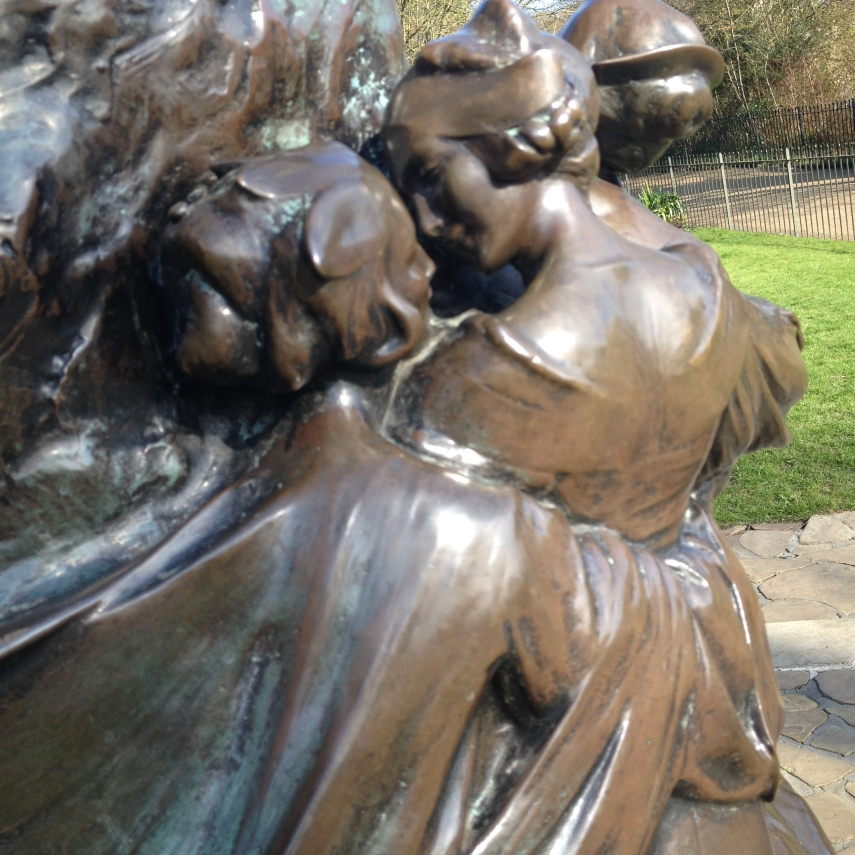 Detail from the Peter Pan statue in Kensington Gardens