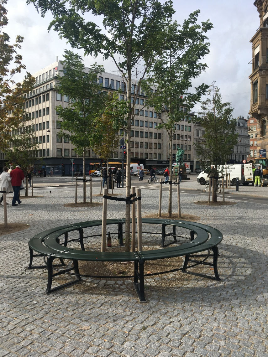 The Town Hall Square of Copenhagen. An ugly black ticket office used to stand here in the 1990s