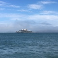 A view to Alcatraz from the Marina of SF
