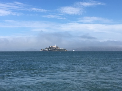 A view to Alcatraz from the Marina of SF. Belongs to the Golden Gate National Parks
