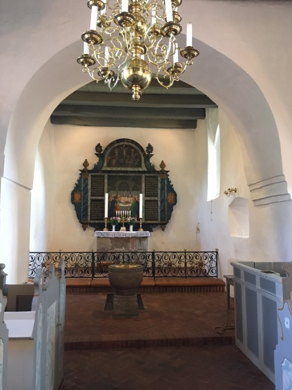 The alter from 1700 in Vedsersoe Church