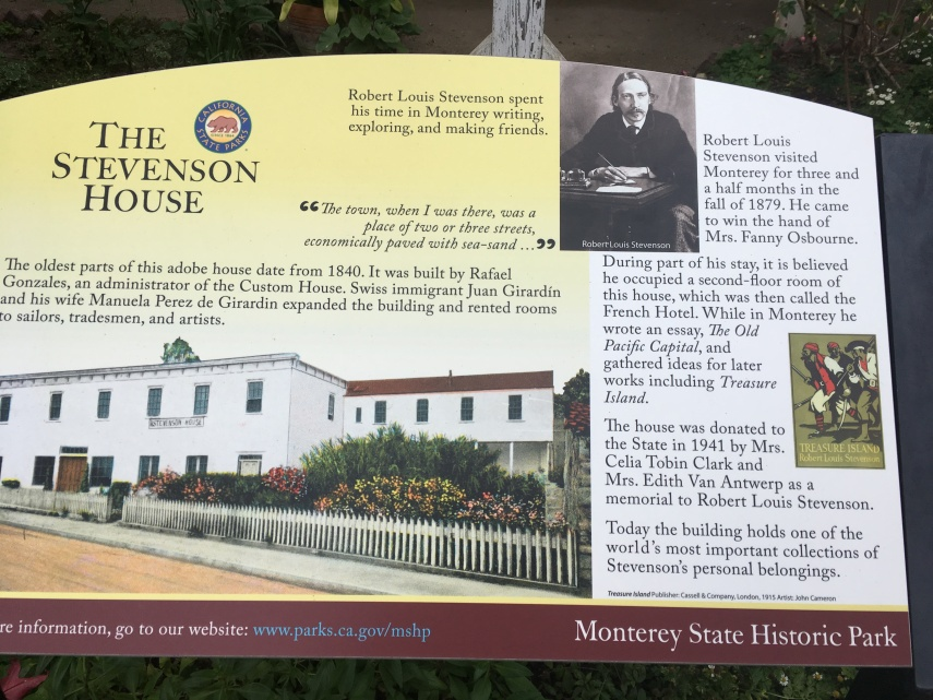 Information of the house where Robert Stevenson stayed in Monterey in 1879