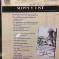 A supply list
