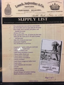 A supply list for your mining equipment
