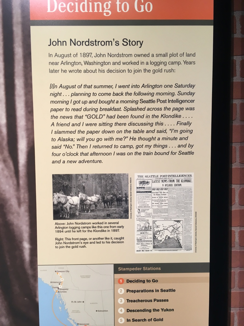 Swedish John Nordstrom's story from working at a logging camp to become a gold miner