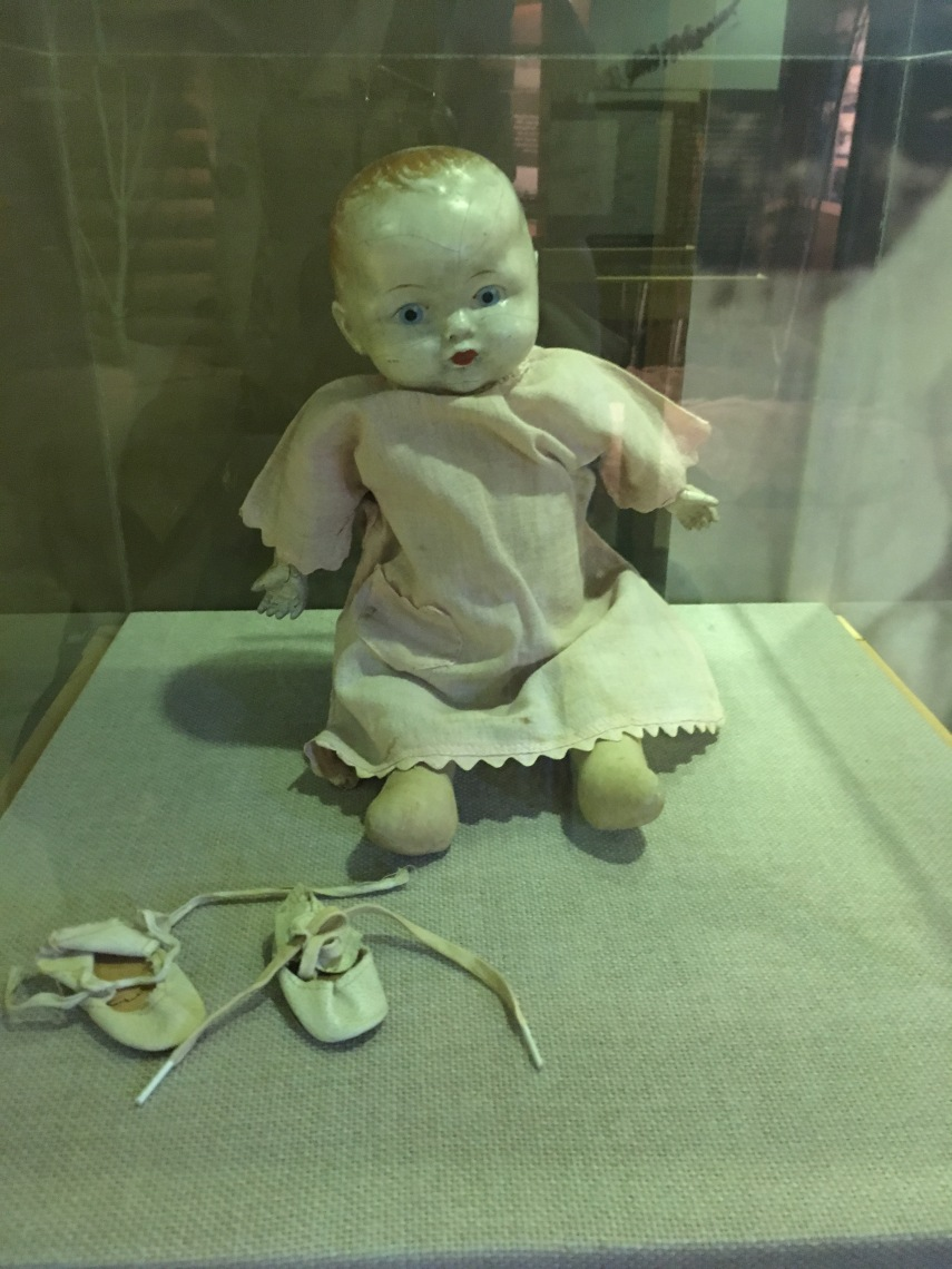 Ethel Anderson's doll from her early childhood in Yukon