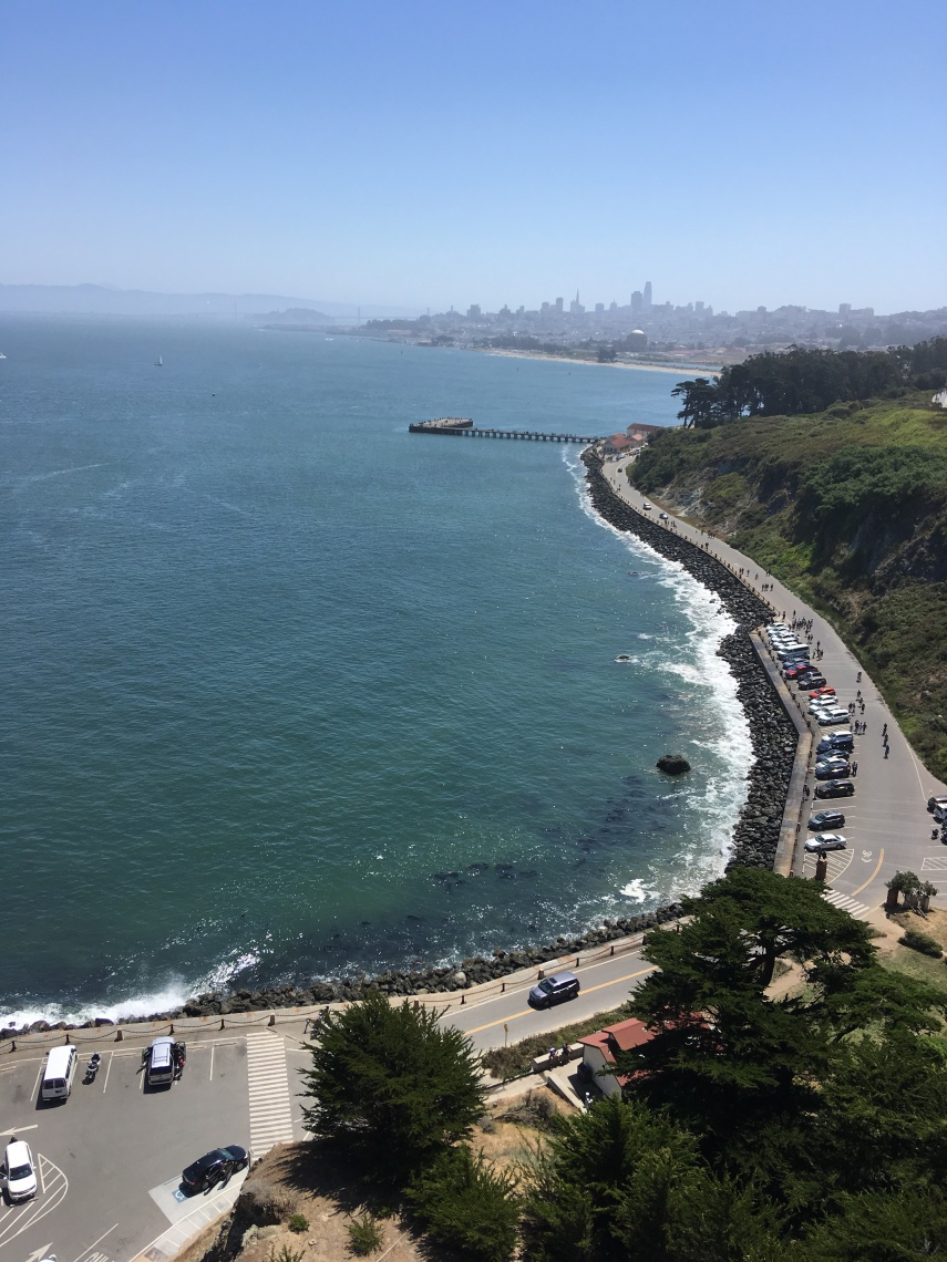 View from The Golden Gate Bridge Historical Park