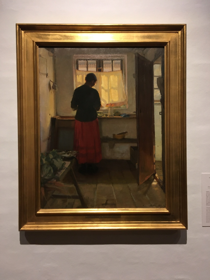 The maid in the kitchen 1883-1886 by Anna Ancher