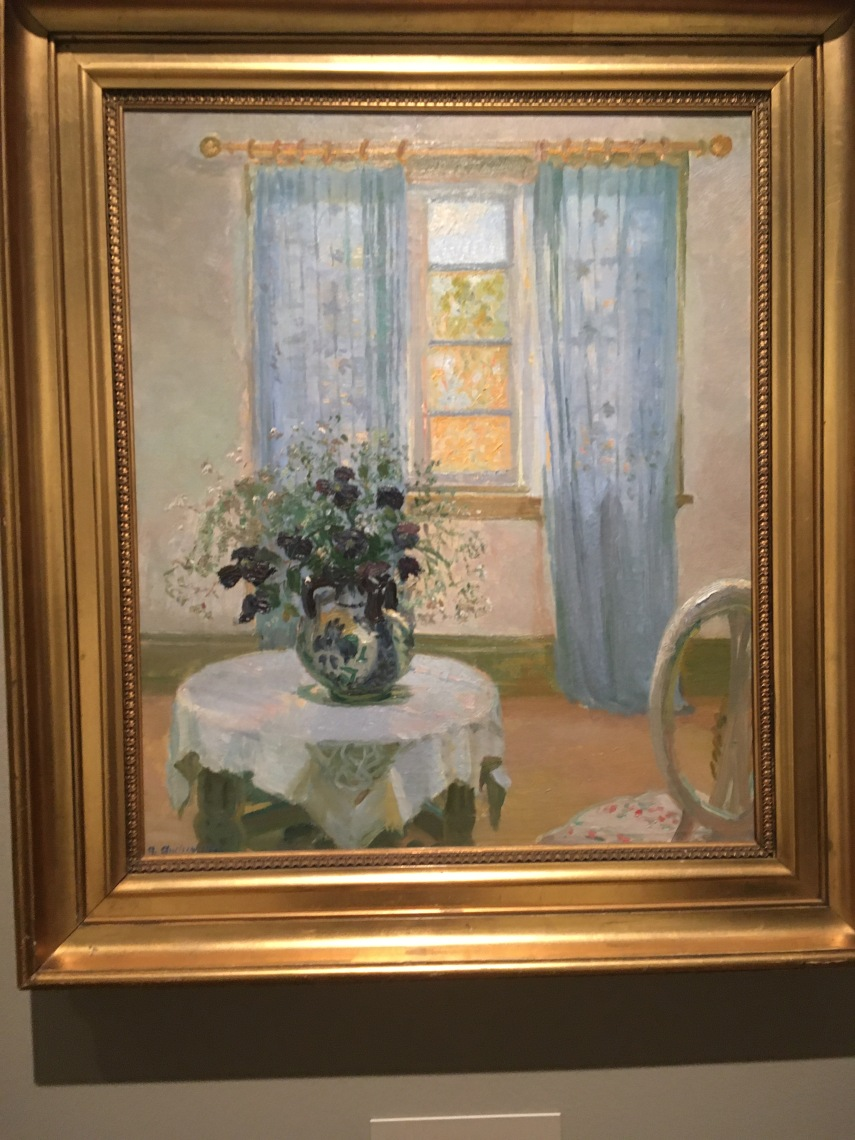 Interior with a clematis 1913 by Anna Ancher (1859-1935)