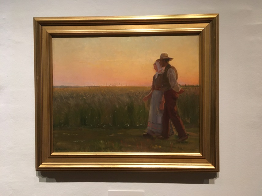 farm labourers on a summer evening 1896 by Anna Ancher (1859-1935)