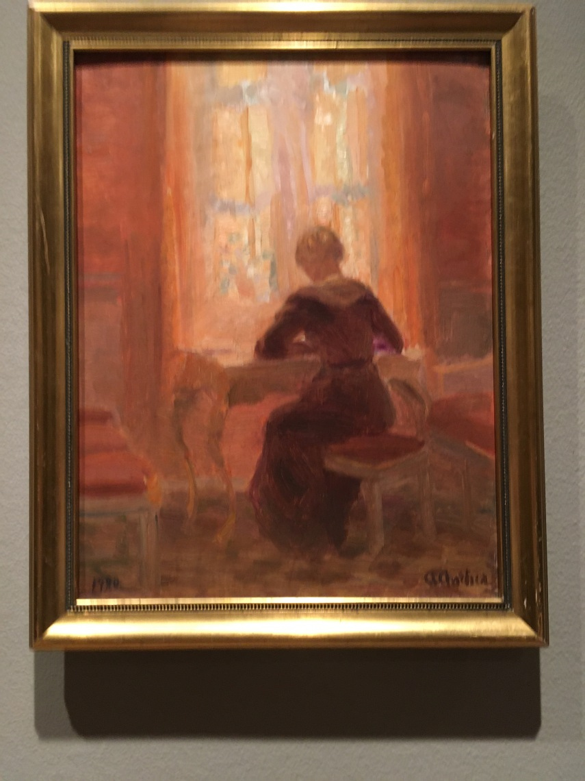 Helga Ancher in the living room 1904 by Anna Ancher (1859-1935)