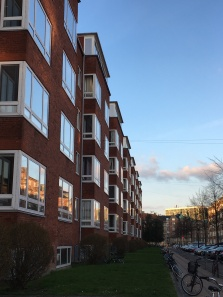 Flats in Copenhagen from the 1930s in Art Deco style or Funkis Style