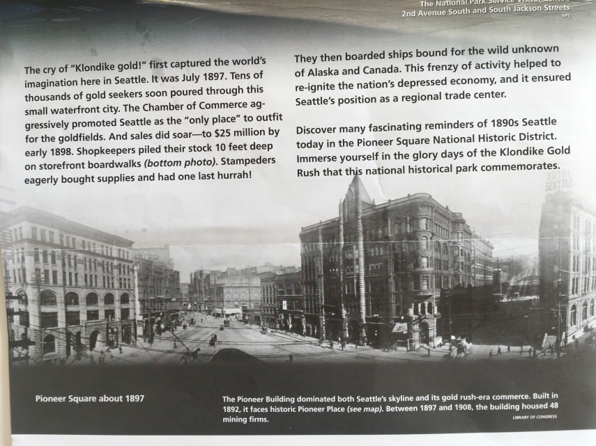 Historic photo from Pioneer Square about 1897 ( NPS Brochure on the Gold Rush Museum)