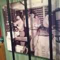 The exhibition shows how the postal workers sorted the mail in a smallcabin