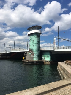 An iconic tower at a bridge in Copenhagen called Knippelsbro