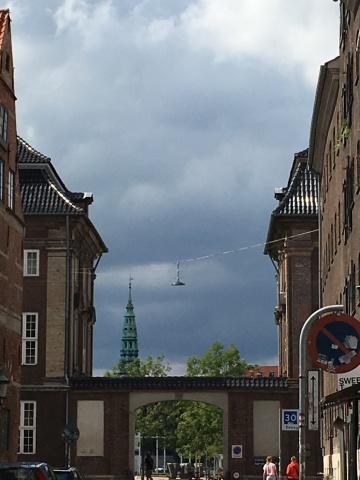 A view from a street in Christianshavn Copenhagen
