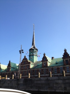The Stock Exchange from the 1600s in Copenhagen seen from the canal