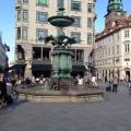 The Stork Fountain in Art Nouveau in centralCopenhagen