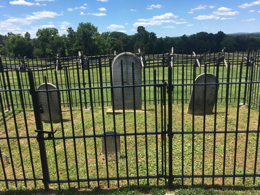 The gravesite at the Henry House at Manassas, Virginia