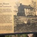 A sign on Historic Stone House, Manassas,VA