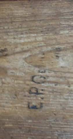 A signature by a wounded soldier from the Civil War in the Stone House