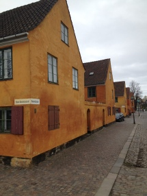 The Nyboder Houses from the 1600s in Copenhagen. The Navy's people lived there