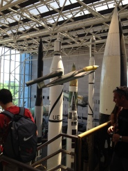 Smithsonian Air and Space Museum at the National Mall in Washington, D.C. A German V1 from WW2 and American missiles