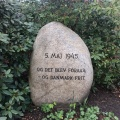 A stone placed in celebration of our liberation from Germanoccupation