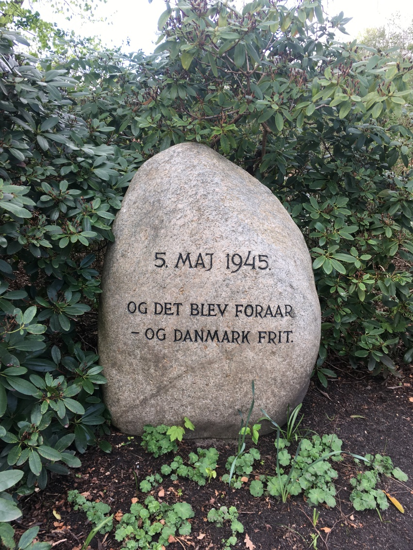 A stone close to our city placed in celebration of our liberation from German occupation