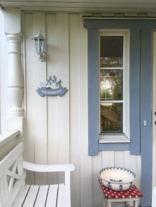 Newly painted entrance
