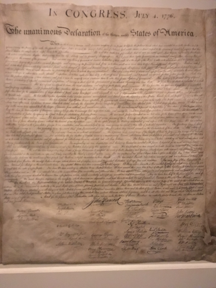 One of the original Declaration of Independence July 4. 1776
