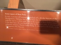 The arrest report of Rosa Parks. The Mongomery Bus Boycott erupted after that and led by Martin Luther King, JR.
