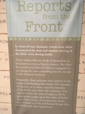Reports from the Front. Written accounts by people who didn't know the outcome of the war they were engaged in